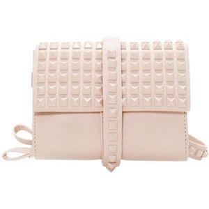 Zara Blush Pink Studded Clutch Wristlet